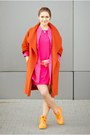 Carrot-orange-palladium-boots-hot-pink-saska-fashion-dress