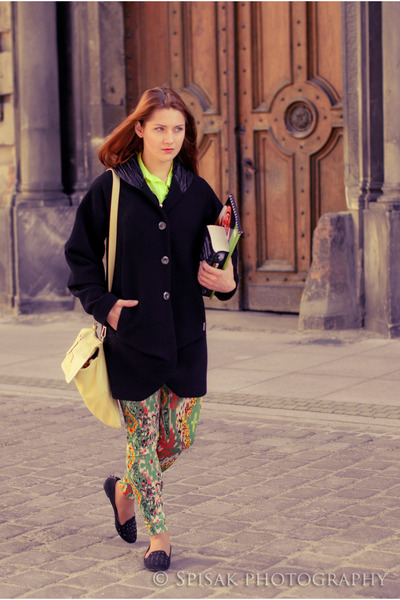 SASKA coat - asoscom leggings - Krokodyl bag - River Island loafers
