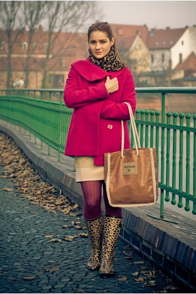 Saska Fashion jacket - Topshop boots - Saska Fashion dress - Mango bag