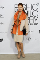 beige Saska Fashion jacket - carrot orange Saska Fashion jacket