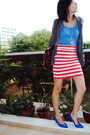 Blue-shoes-pink-cotton-on-skirt-blue-mango-top-silver-diva-accessories-g
