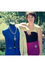 Blazer-black-shirt-handmade-skirt-necklace-necklace