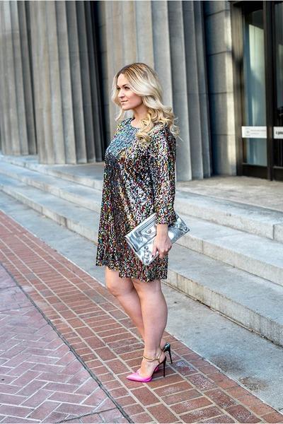 Boohoo dress - balenciaga bag - Christian Louboutin heels