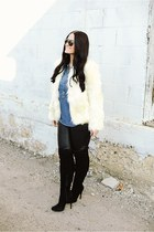 boots - jacket - leggings - shirt - Porsche Design sunglasses