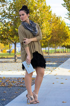 Juicy Couture skirt - H&M sweater - Missoni scarf - Marc Jacobs bag