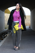 Nasty Gal coat - Equipment shirt - 31 Phillip Lim bag - asos pants