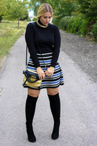 Forever 21 skirt - Steve Madden boots - Mango shirt - foley  corinna bag