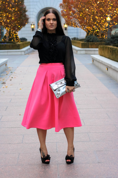 balenciaga bag - asos skirt - Valentino heels