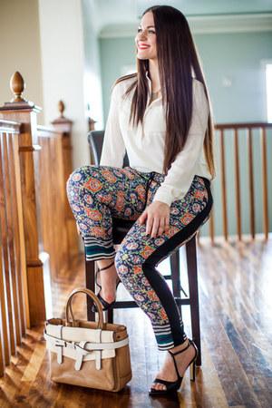 Zara blouse - Reed Krakoff purse - Clover Canyon pants - Zara heels