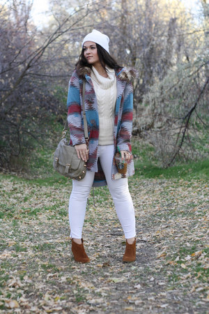 BB Dakota jacket - Steve Madden boots - Rich & Skinny jeans - Bebe sweater