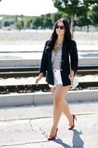 baublebar necklace - J Crew shorts - Celine sunglasses - Saint Laurent heels