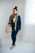 asos jeans - Forever 21 scarf - Alexander Wang bag - Valentino flats