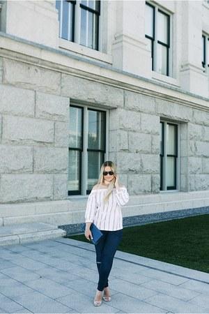 asos necklace - asos jeans - Saint Laurent purse - Porsche Design sunglasses