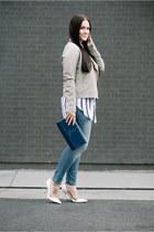 Forever 21 jacket - Target jeans - Forever 21 shirt - Saint Laurent bag