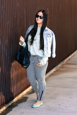 balenciaga purse - Forever21 jeans - William Rast jacket