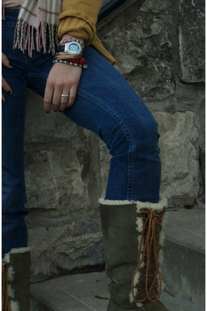 Hudson jeans - Ugg boots - Sundance sweater - Technomarine watch