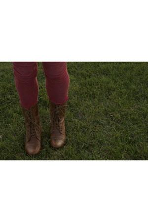 Steve Madden boots - Hermes scarf - Ray Ban sunglasses - calvin klein blouse