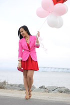 asos dress - hot pink H&M blazer