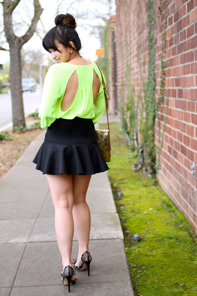 Urban Outfitters top - botkier bag - Valentino heels - H&M skirt