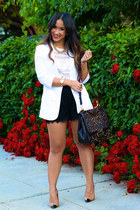 white white Aqua blazer - dark brown Diane Von Furstenberg bag
