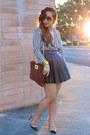 Ktrcollection-skirt-stripes-blouse-h-m-blouse-valentino-pumps