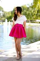 KTRcollection skirt - BarIII shirt - Valentino pumps