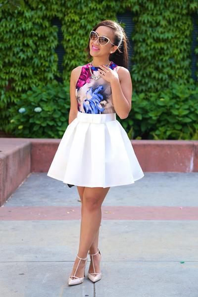 KTRcollection skirt - nude t-strap Zara pumps