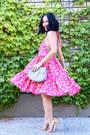 Hot-pink-ktrcollection-dress-silver-chloe-bag