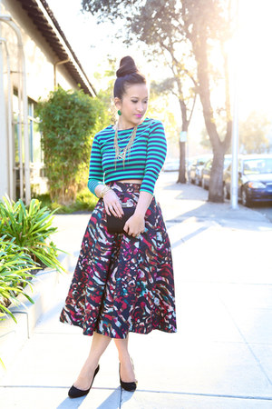 KTRcollection skirt - stripes crop Forever 21 top