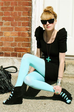 We Love Colors tights - Forever 21 dress