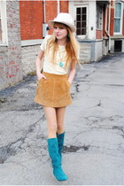 camel vintage accessories - vintage from Ebayfrom Ebay boots - Forever 21 skirt