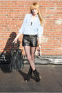 Vintage-shirt-forever-21-shorts-urban-outfitters-tights-deena-ozzy-boots