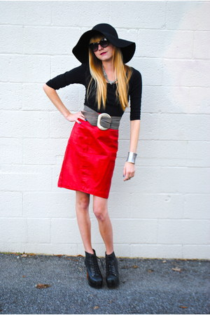 vintage skirt - Jeffrey Campbell shoes - H&M hat