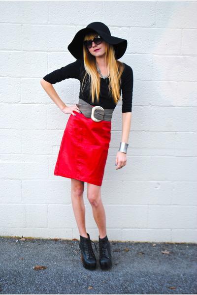 vintage skirt - Jeffrey Campbell shoes - H&M hat