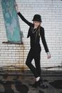 Black-forever-21-blazer-h-m-hat-forever-21-pants