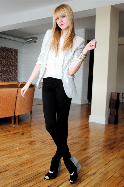 Forever 21 pants - Deena & Ozzy shoes - Forever 21 blazer