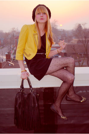 Forever 21 dress - Forever 21 blazer - H&M purse - H&M hat