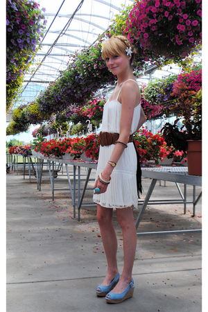 Michael Kors shoes - H&amp;M dress - Forever 21 belt - Forever 21 accessories