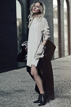 beige carine roitfeld blazer - DealSale dress - wool Zara coat