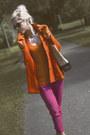 Nude-hogl-shoes-carrot-orange-thrift-store-blazer-lindex-sunglasses