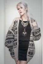 cardigan - inlovewithfashion dress - H&M necklace