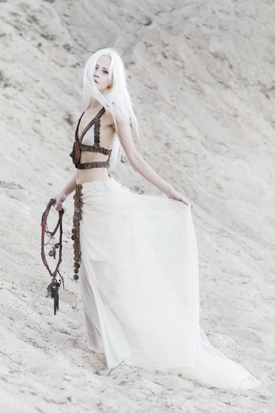 off white mesh Krete and Kätrin Beljaev skirt