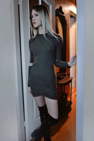 army green Sheinside dress