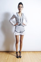 Halsey Jacket- Cotton Eyelet Ruffle Jacket