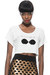white crop top KA by KahriAnne Kerr t-shirt