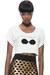 white crop top KA by KahriAnne Kerr t-shirt