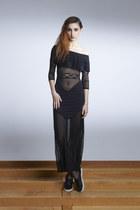 Within You Dress- Mesh Ruffle Maxi Dress