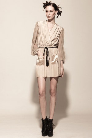 silk leather Kahri by KahriAnne Kerr dress