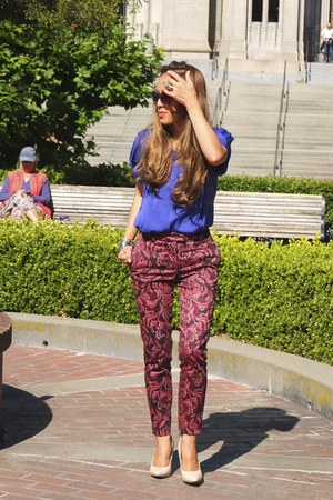 Zara blouse - H&M pants - Target heels