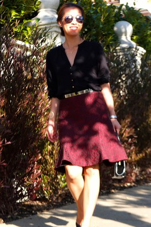 brick red ann taylor skirt